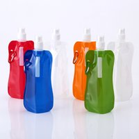 Wholesale Promotional Sports Bottles - Wholesale- Wholesale Custom Printing 450ml Gourd Shape Sport Collapsible Foldable Water Bottle Hot Selling Promotional Gifts