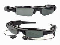 Wholesale Video Glasses Sunglasses Mp3 Player - Hot selling SunGlasses + MP3 Player + Hidden DV Recorder Camera + TF Card Slot Video DVR Glasses Mini Fashion Earpod Music player