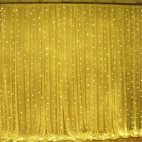 Wholesale wholesale icicle christmas lights - 3M By 3M 300 LED Icicle String Lights Christmas Fairy Lights Outdoor Home for Wedding Party Curtain Garden Decoration