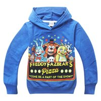 Wholesale Children Night Wear - Free shipping large children's wear fleece 2015 autumn outfit Five Nights at Freddy 's children cap unlined upper garment of cotton