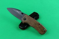 Wholesale Stainless Steel Made China - Drop shipping China made BOKER DA66 folding knife 440C stainless steel blade wood handle pocket knives camping tools with original box