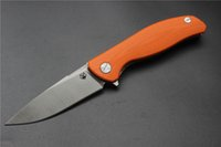Varejo por atacado china Highquality Modelo F3 faca, lâmina 440C, laranja G10 Handle Outdoor Camping Survival Bearing Folding Knife, EDC Ferramentas