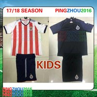 Wholesale Wholesale Kids Jersey Shirts - kids Chivas de Guadalajara kits set 2017 18 Chivas boys Home away soccer jersey 17 18 Pulido kids Football Shirts good quality free DHL