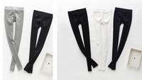 Wholesale Girls Stripe Capris - Fashion women teens girl skinny slim pants stripes leggings trousers spring autumn winter cotton stretch pencil pant Capris Christmas favors