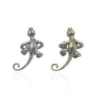 ingrosso lucertola dell'orecchio-Orecchini a forma di lucertola gotica per le donne Orecchini a forma di orecchino per gli uomini Orecchini a clip per orecchini a forma di orecchio Orecchini Brinco