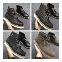 Wholesale Boa Shoes Men - Winter Snow Boots Brand Mens Tims Boot Leather Waterproof Work Outdoor Shoes Casual Hiking Shoes Leisure Ankle Colors Classic 40-45