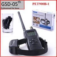 Wholesale Dog Beeper Training - Pet Dog Training Collar System 1000M Waterproof Remote Control Dogs Beeper 99 Level Petrainer PET900B For 1 Dog
