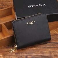 Wholesale Wallet Men Black Genuine Leather - high quality fashion women and men purse wallet mix leather designer creativity card holders wallets for women and men wallet wholesale