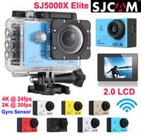 Wholesale Image Sensor Cmos - Original SJCAM SJ5000X Elite 4K 24fps 2K 30fps Gyro sensor Sports Camera WiFi Waterproof Action Camera Diving 30m HD DV 2.0LCD NTK96660
