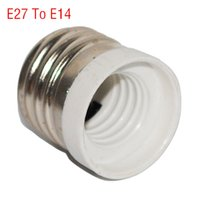 Wholesale Conversion Sockets - Wholesale-New Fireproof Material E27 to E14 lamp Holder Converter Socket Conversion light Bulb Base type Adapter