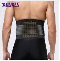 ingrosso sicurezza della cintura posteriore-AOLIKES Supporto lombare Dolore alla schiena Dolore alla schiena Sostegno per tutore Fitness Cinture per sollevamento pesi Correttore di sicurezza sportivo Espalda