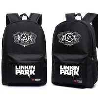 Wholesale Backpack Park - for kids 2017 Hot Teenagers Harajuku Canvas School Backpacks Galaxy Rock Music Linkin Park Printing Shoulder Bag Gift For Kids Mochila