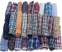 Wholesale Men Underwear Buttons - 4 pieces lot High Quality plaid 100% Cotton Cueca Men's Woven Underwear Men Boxer Shorts Sizes ( M-XXL)