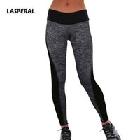Wholesale Women s Sport Leggings Two Sided Stripe Patchwork Fitness High Waist Elastic Women Leggings Workout Gym Leggings Pants PC