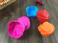 Wholesale Fashion Biscuit - Silicone rose shaped cake mold Fashion rose DIY silicone jelly mold Cake biscuit ice mold etc home bakeware mold