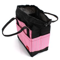 Wholesale Insulated Lunch Bag Black - Wholesale-Home Use 3 Colors High Quality Japanese Style Square Stripped Outdoor Picnic Insulated Box Container Cute Lunch Bag DP677841