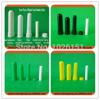 Wholesale Inhaler Glass - New & Hot! 102 sets lot Free Shipping Nasal Inhalers Container, Plastic blank nasal Inhaler sticks, nasal inhalers (7 colors)