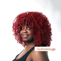 Wholesale Top Quality Synthetic Hair - Top Quality Chic Curly 3 Color Synthetic Hair Wigs Capless Wigs African American Wigs For Black Women