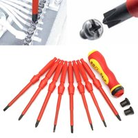 Wholesale Electrical Tools Sets - 9Pcs Multi-purpose Magnetic Insulated Electrical Screwdriver Precision Tool Set