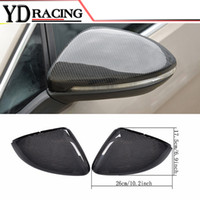 Wholesale Volkswagen Golf Vii - Replacement Type Carbon Fiber Side RearView Mirror Covers Trim for Volkswagen VW Golf 7 VII MK7 GTI R 2014-2017