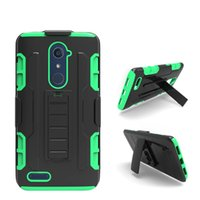 Étuis Pivotants Alcatel À Une Touche Pas Cher-Pour Alcatel One Touch Dawn 5027 Idol 4 Pop 3 Fierce XL Conquest Defender Kickstand Robot Combo Holster Case Ceinture Clip Tough Cover