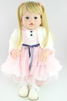 Wholesale Latex Fashions For Kids - 28 inch big Toddler Reborn Arianna dolls for kids high quality collectible Baby doll artists' doll