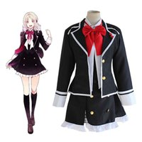 Women blazer school - Diabolik Lovers Heroine Yui Komori Cosplay Costume Black Blazer Japanese School Uniform Halloween Costumes for Women