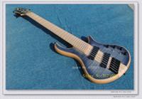 cordas de guitarra oem venda por atacado-Personalizado 6 Cordas Guitarra Baixo VENDA QUENTE 6 cordas Elétrica guitarra baixo Natural one piece body OEM disponível de Alta Qualidade