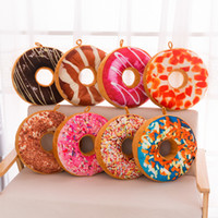 Wholesale Pizza Toys - Doughnut Shaped Ring Plush Toys Soft Cushion Coussin Colorful Donut Pizza Cushion almofada Decorative Pillow Chair Sofa Seat Accessory
