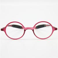 Wholesale Geek Eyeglasses - Flexible TR90 Retro Reading Glasses, Women Men Round Frame Unbreakable Pocket Reader, Geek NERD Hyperopia Presbyopia Eyeglasses