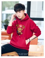 Wholesale Lady Brand Cotton Sweatshirts - couple Brand Hooded sweatshirt 2017 autumn high quality lady fashion cartoon bear longsleeve hoodies Women top tshirt BM9281