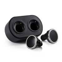 écouteurs de piste achat en gros de-Q800 Twins True Sans Fil Bluetooth Casque V4.1 In-Ear Écouteurs Double Track Casque avec Station de Charge Box Mains Libres pour Smartphones