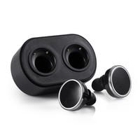 kopfhörer großhandel-Q800 Twins True Wireless Bluetooth Headset V4.1 In-Ear Kopfhörer Doppelspur-Kopfhörer mit Ladestation Box Freisprecheinrichtung für Smartphones