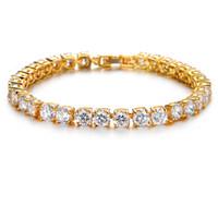 zubehör armbänder großhandel-Frauen New Style Greatest Jewelry Charm Armband Mode Gliederkette Reine Kristall Römischen Accessoires Mona Lisa Einzigartigen Diamant charme