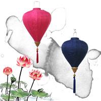 Wholesale Chinese Silk Ornaments - Diamond Lantern New Year Decorative Articles Outdoors Jacquard Satin Silk Lanterns For Craft Ornament Multicolor Optional Popular 40bt C R