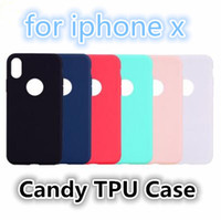Wholesale iphone plus jelly gel case - Christmas gift Ultra Thin Slim Case Candy Solid Colors Soft matte TPU Gel Jelly cell phone Cases Back Cover for iPhone X S Plus