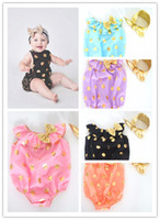 "Wholesale Wholesale Easter Outfit Baby - ""Climbing Clothes Wholesale Baby Girls Custom Boutique Bubble Romper Pink Gold Polka Dots Metallic Sunsuit Easter Outfit Sunsuit Matcthing"
