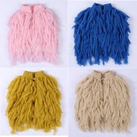 Wholesale Multi Color Knit Vest - Ins Hot Sell New Kids Girls Knitted Tassels Cardigans Vests Multi Color Princess Sweet Baby Kids Fall Winter Jackets Outwears