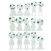 Wholesale small figurines - High quality Luminous Elves Tree toy Elf Posture Figurines Cartoon Alien Small Toy Landscape accessories IC741