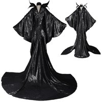Wholesale Top Selling Adult Costumes - HOT Top Selling Movie Adult Maleficent Angelina witch Sleeping Beauty Dress Cosplay COSTUME Halloween Suit Cosplay Party Chrismas
