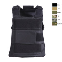 Wholesale black tactical vests - Outdoor Sports Outdoor Camouflage Body Armor Combat Assault Waistcoat Tactical Molle Vest Plate Carrier Vest SO06-009