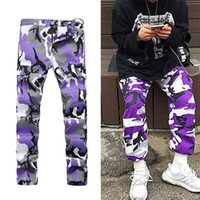 Wholesale Camouflage Pants For Plus Size - New Europe United States military high street wind hip-hop camouflage pants loose pants pocket tooling more exercise big yards pants for me
