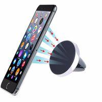 передвижная подставка для магнита оптовых-Автомобильный держатель Mini Air Vent Маунт Магнитный сотовый телефон Мобильный держатель Универсальный для iPhone 6 6s 7 8 GPS Стенд кронштейн Поддержка