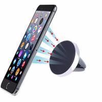 подставка для мобильного телефона mini оптовых-Автомобильный держатель Mini Air Vent Mount Magnet Магнитный сотовый телефон Мобильный держатель Универсальный для iPhone 6 6s 7 8 Поддержка кронштейнов GPS