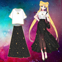 Kukucos Sailor Moon Belle fille Warrior Jupe Mois Hare Automne Chiffon Long Skirt Robe haute cosplay taille