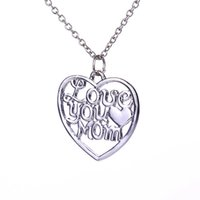 """Wholesale Wholesale Gifts For Mom - Fashion Necklaces For Women 2015 Mother's Day Gift Engraved Letters """"I Love you Mom"""" Hot Sale Necklace Jewelry Mother Necklace 12PCS LOT"""
