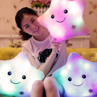 Cuscini Peluche Hot LED Peradix LED Cuscino Colorful Dolls Led Illuminazione Glow in Stelle Oscure Per Bambini Baby