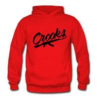 Wholesale Street Sweatshirt Collar - Hot sale! Men's Crooks and Castles Hoodie Men Hip Hop Fleece Hoodie Man Winter O-neck Street wear Sweatshirt Casual Sudaderas Hombre