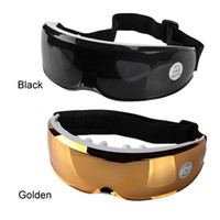 Wholesale sleep glasses - Electric Eye Care Massager USB Glasses Mask Migraine Electric Vibration Release Alleviate Fatigue Eye Massager Sleep Masks 0612005