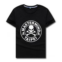 Wholesale T Shirt Color Skull - New mastermind japan skull o-neck short-sleeve cotton t-shirt tee white and black color